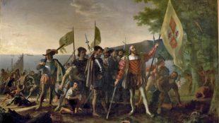 John Vanderlyn: Landing of Columbus, 1847